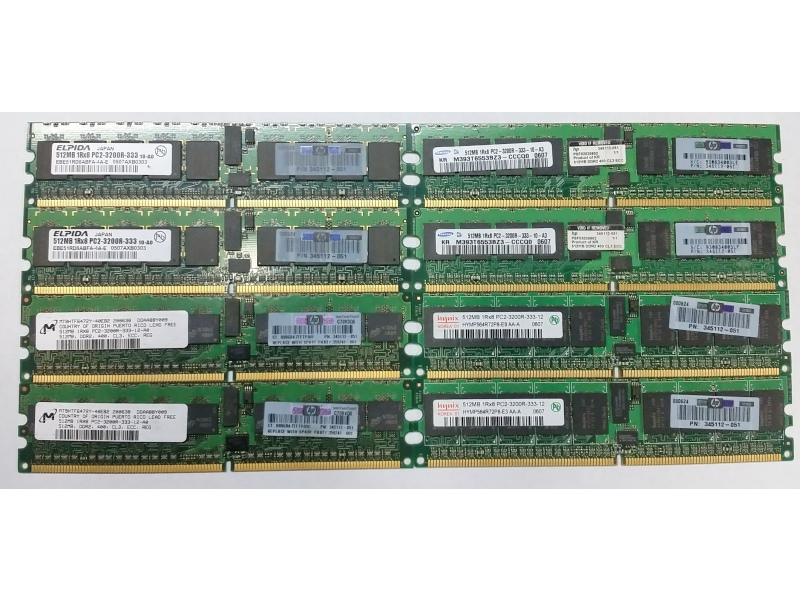 DDR2 DIMM ECC  512Mb PC2-3200R-333 #1